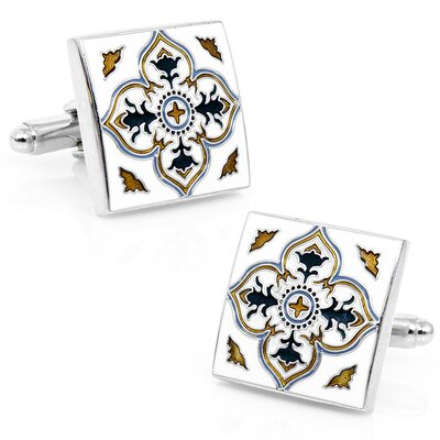 Spanish Tile Cufflinks