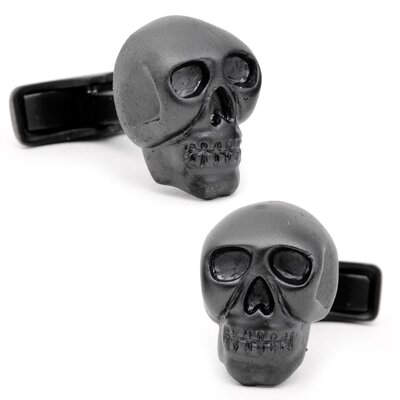 Ravi Ratan Iron Black Skull Cufflinks