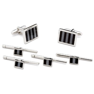 Ox and Bull Striped Mosaic Stud Set
