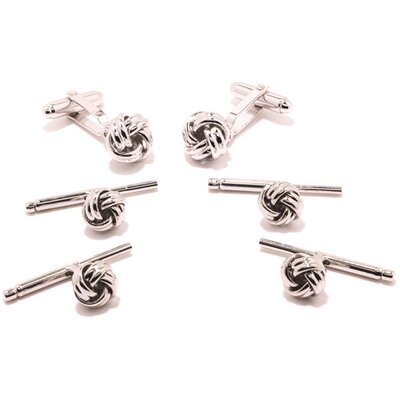 Ox and Bull Silver Knot Stud Set 6 Piece Set