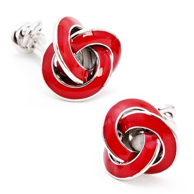 Ox and Bull Double Ended Enamel Knot Cufflinks
