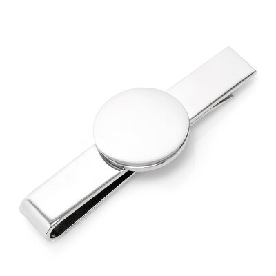 Ox and Bull Round Infinity Engravable Tie Bar