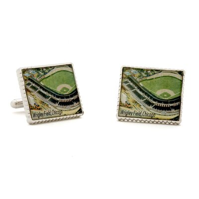 Penny Black 40 Authentic Wrigley Field Stamp Cufflinks