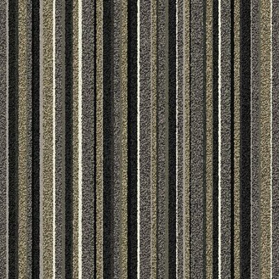 "Interface Stroll Birch Parkway Square 19.69"" x 19.69"" Carpet Tile in Gray Stripe"