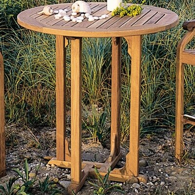 Essex teak outdoor bar table wayfair for Outdoor furniture essex