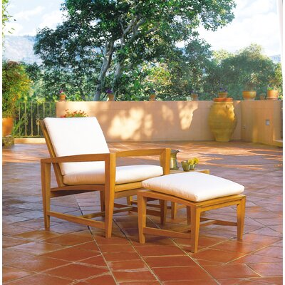 Kingsley Bate Amalfi Lounge Chair and Ottoman with Cushions