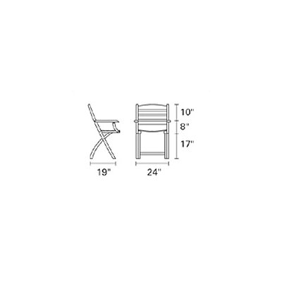 Kingsley Bate Gearhart Folding Dining Arm Chair