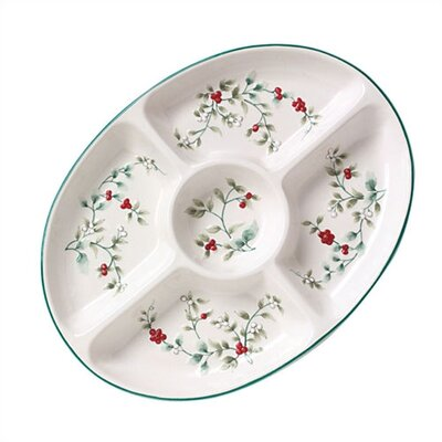 Pfaltzgraff Winterberry Oval Serving Tray
