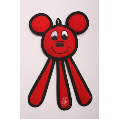 Dangles Mouse Dog Toy in Red