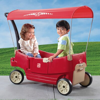 step2 all around canopy wagon ride on reviews wayfair. Black Bedroom Furniture Sets. Home Design Ideas