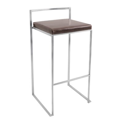 LumiSource Fuji Stacker Barstool in Brown