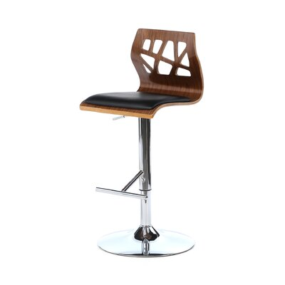 "<strong>LumiSource</strong> Folia 26"" Adjustable Swivel Bar Stool"
