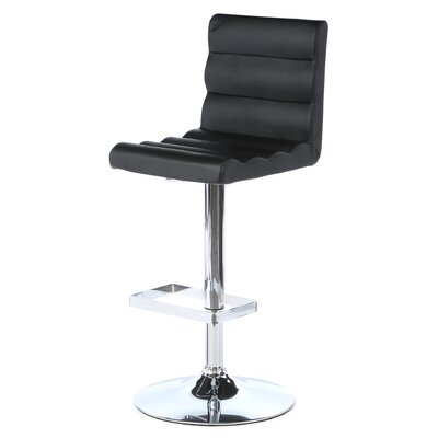 "Auto 24"" Adjustable Swivel Bar Stool with Cushion"