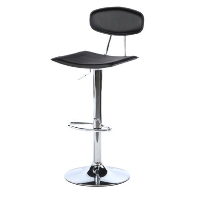 Black Leather Chrome Chair Allmodern