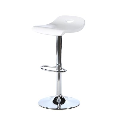 LumiSource Surf Bar Stool in White