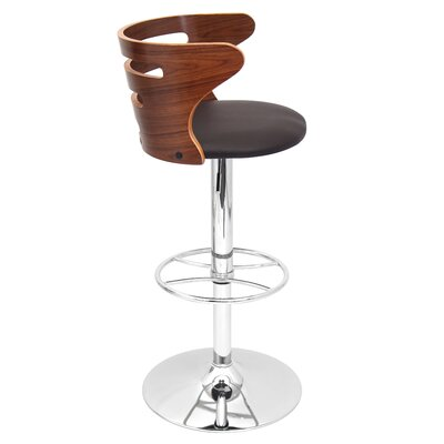 "LumiSource 31"" Adjustable Bar Stool with Cushion"