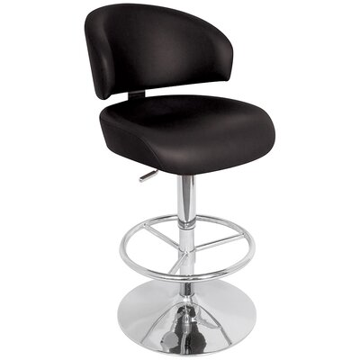 "LumiSource Regent 28""-33"" Bar Stool in Black"