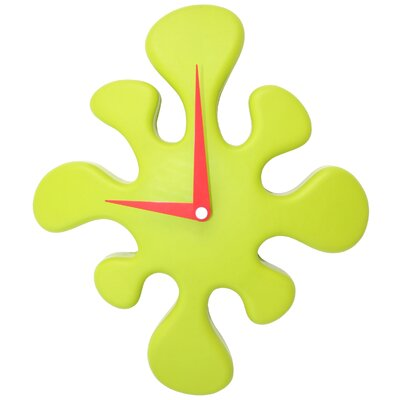 LumiSource Mini Splat Clock in Green