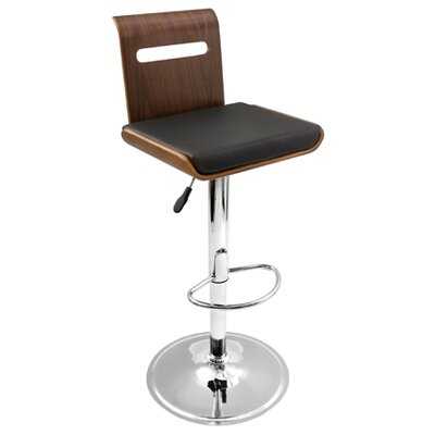 LumiSource Viera Barstool in Walnut