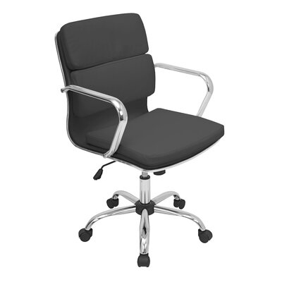 LumiSource Bachelor Mid-Back Leatherette Office Chair