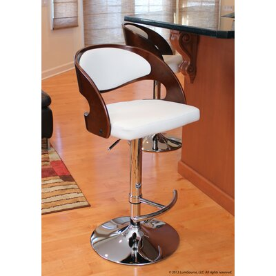LumiSource Pino Barstool in Cherry / White