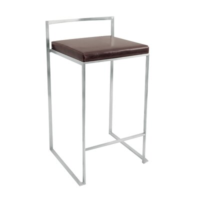 LumiSource Fuji Leatherette Stool