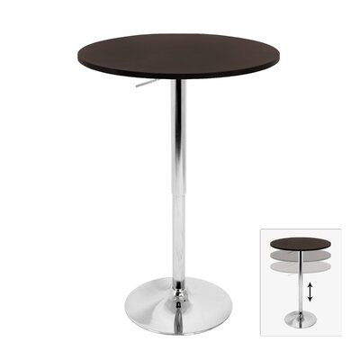 LumiSource Elia Adjustable Height Pub Table