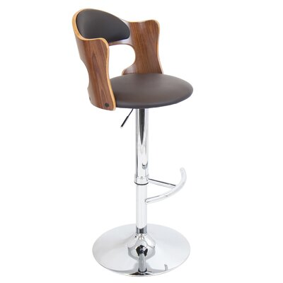 LumiSource Cello Adjustable Swivel Bar Stool