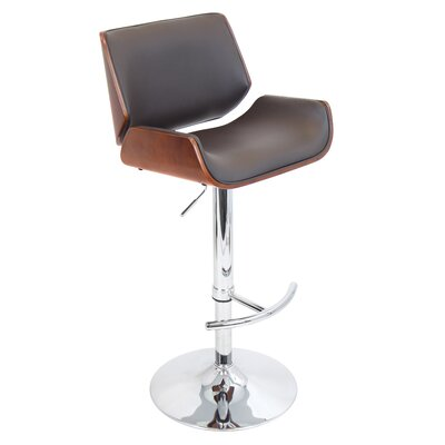LumiSource Santi Adjustable Swivels Bar Stool with Cushion