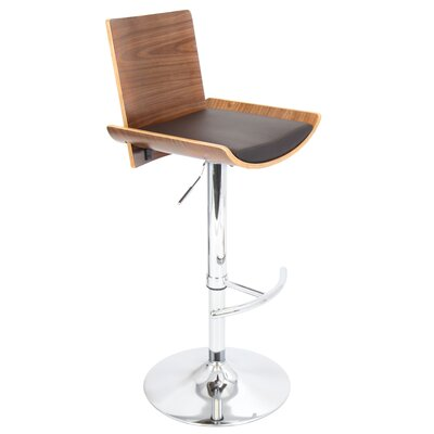 LumiSource Vittorio Swivels Barstool with Cushion