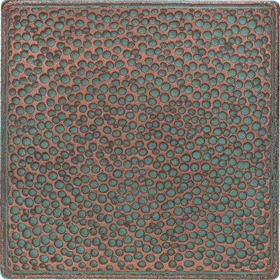"Daltile Castle Metals 4-1/4"" x 4-1/4"" Hammered Decorative Wall Tile in Aged Copper"