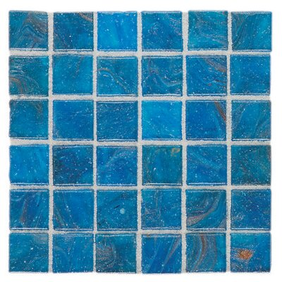 "Daltile Elemental Glass 3/4"" x 3/4"" Mosaic Tile in Curacao"