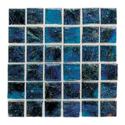 "Daltile Elemental Glass 3/4"" x 3/4"" Mosaic Tile in Cornflower"