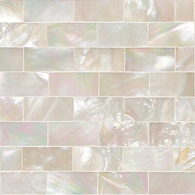 ocean jewels 2 x 2 running board accent tile in mother of pearl
