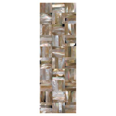 "Daltile Ocean Jewels 2"" x 6"" Basketweave Raised Accent Strip in Brown Lip"