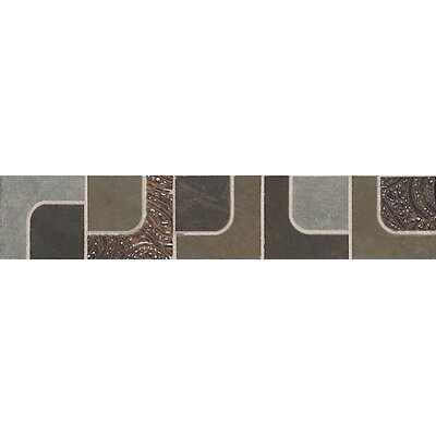 "Daltile Concrete Connection 13"" x 2-1/2"" Decorative Accent in Retro Cool"