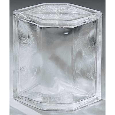 "Daltile Glass Block 8"" x 6"" Decora Hedron Corner Unit"