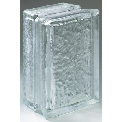 "Daltile Glass Block 8"" x 6"" Icescapes Arque Block"