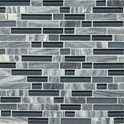 Daltile Stone Radiance Random Sized Mosaic Tile Blend in Glacier Gray Marble