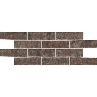 """Daltile Union Square 2-1/4"""" x 8"""" Brick Field Tile in Cobble Brown"""