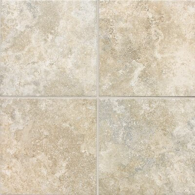 "Daltile San Michele 18"" x 18"" Cross - Cut Field Tile in Crema"