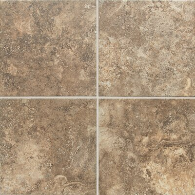 "Daltile San Michele 12"" x 12"" Cross - Cut Field Tile in Moka"