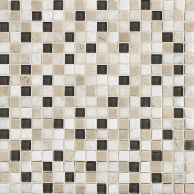 "Daltile Stone Radiance 5/8"" x 5/8"" Mosaic Tile Blend in Kinetic Khaki"