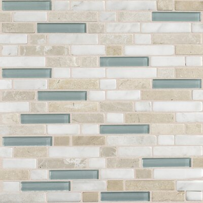 "Daltile Stone Radiance 12"" x 12"" Random Mosaic Tile Blend in Whisper Green"