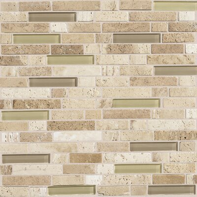 Stone Radiance Random Sized Mosaic Tile Blend in Mushroom / Morning Sun