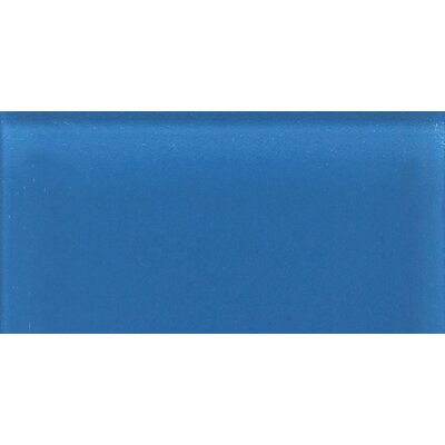 "Daltile Glass Reflections 4-1/4"" x 8-1/2"" Frosted Wall Tile in Ultimate Blue"