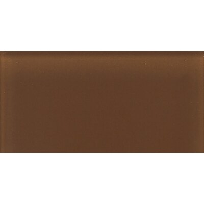 "Daltile Glass Reflections 4-1/4"" x 8-1/2"" Glossy Wall Tile in Caramel Sundae"