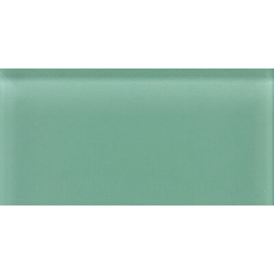 "Daltile Glass Reflections 4-1/4"" x 8-1/2"" Glossy Wall Tile in Serene Green"