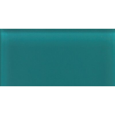 "Daltile Glass Reflections 4-1/4"" x 8-1/2"" Glossy Wall Tile in Almost Aqua"