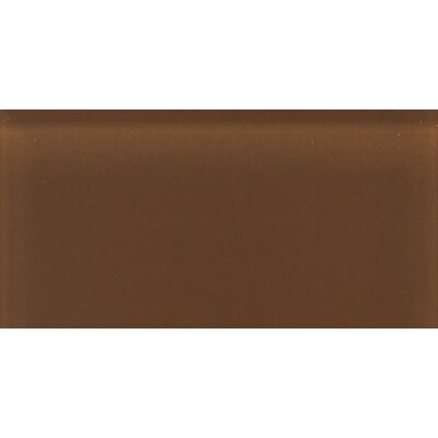 "Daltile Glass Reflections 8-1/2"" x 17"" Frosted Wall Tile in Caramel Sundae"